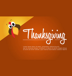 Background of thanksgiving card style vector