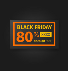 Black friday 80 percent discount coupon vector