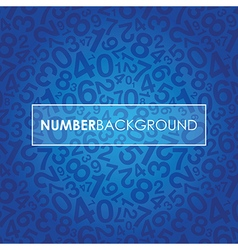 Blue number background vector