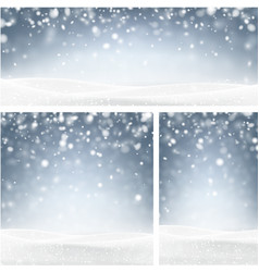 Blue winter backgrounds with snow vector