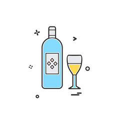 bottle glass drink icon design vector image