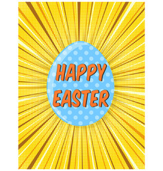 bright yellow retro comic background for easter vector image