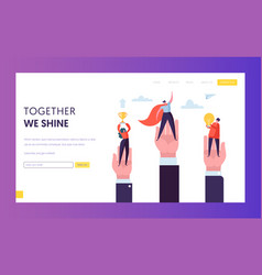 Business leader win challenge prize landing page vector