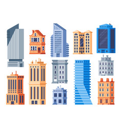 city buildings urban office exterior living vector image