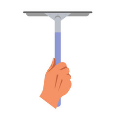 cleaning concept with hand holding mop for washing vector image