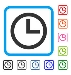 Clock framed icon vector