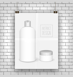 cosmetics white templates vector image