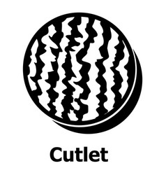 Cutlets icon simple black style vector