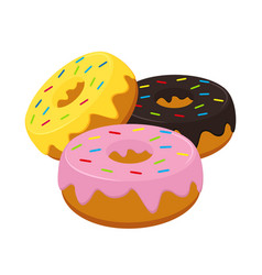 donuts icon fastfood isolated sweet food and vector image