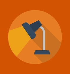 Education Flat Icon Table Lamp vector