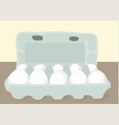 Eggs in a box vector