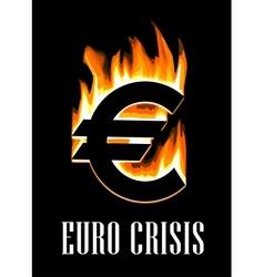 Euro crisis concept vector image