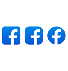 facebook icons vector image