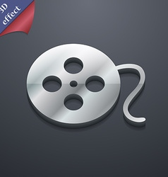 film icon symbol 3D style Trendy modern design vector image