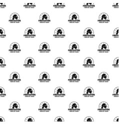 Firefighters rescue team pattern seamless vector
