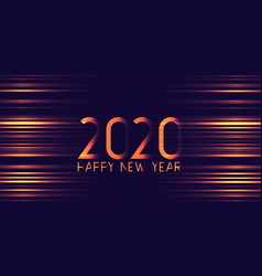 Futuristic glowing happy new year banner design vector