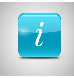 Glass Information Button Icon vector