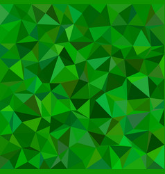 Green irregular triangle tiled background - from vector