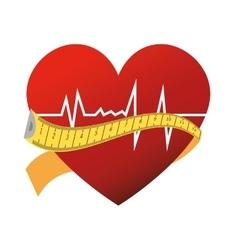 Heart cardiogram rhythm vector