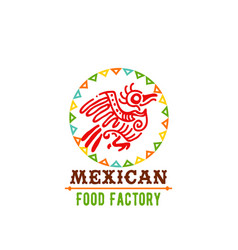 Icon for mexican food cuisine vector