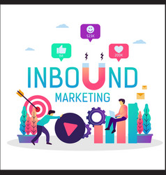 Inbound marketing online promotion strategy vector