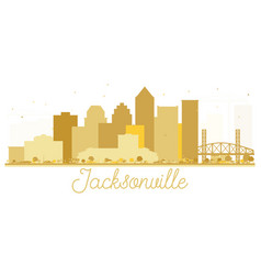jacksonville florida usa city skyline golden vector image