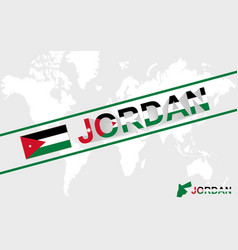 Jordan map flag and text vector