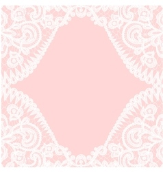 lace border on pink background vector image