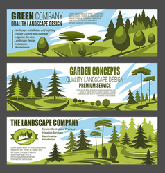 Landscape design company and horticulture service vector