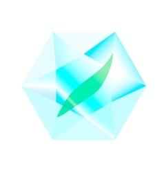 leaf inside a diamond vector image