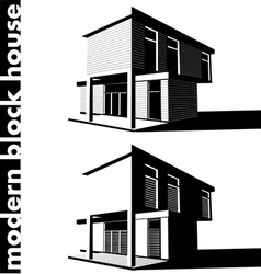 Modern block house vector