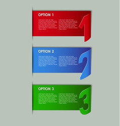 Modern paper progress option background vector