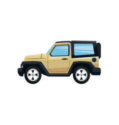 modern retro yellow jeep background vector image