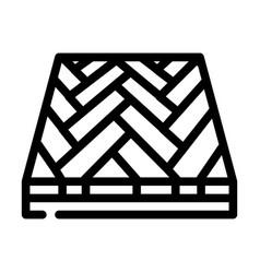 Parquet floor line icon vector