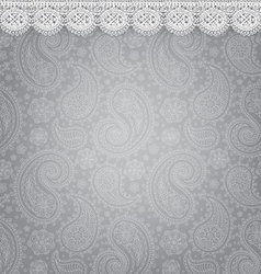 Patterned background with lace vector image