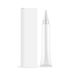 plastic cosmetic tube with paper box isolated vector image