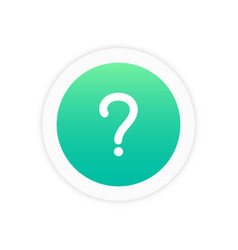question icon sign vector image