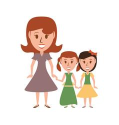 Retro family cartoon vector