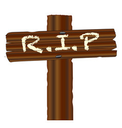 Rip wood cross vector