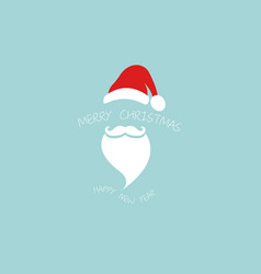 santa claus logo design isolated on blue vector image