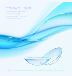 Science card with contact lenses sign vector