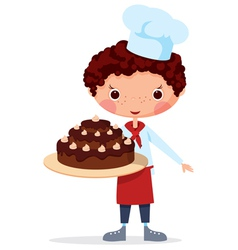 scullion with cake vector image