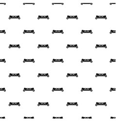 skateboard deck pattern vector image