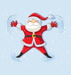 Snow angel santa claus vector
