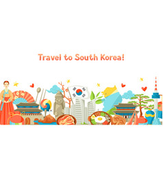 South korea banner design korean traditional vector