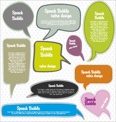speech bubbles retro design vector image