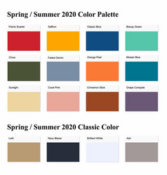 Spring summer 2020 palette example vector