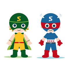 super hero kids vector image