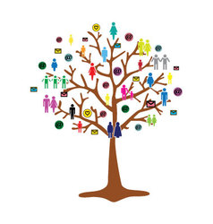 team work tree vector image