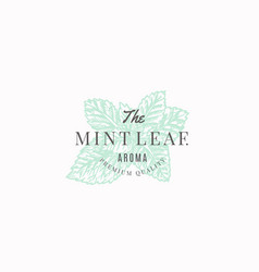 the mint leaf abstract sign symbol or logo vector image